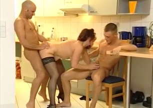 Sons fucks their big-boobed mom with pleasure