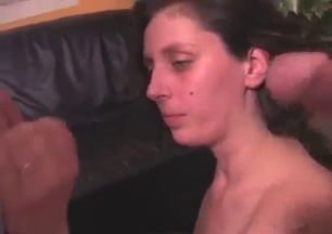 Sister swallows two cumshots by her brothers