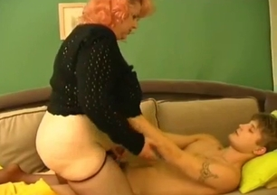 Mom takes care of her son's hard dick