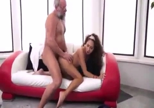 Grandfather drills an ultra sexy granddaughter