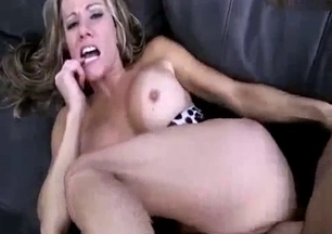 Busty blonde MILF eats her brother's dick with love