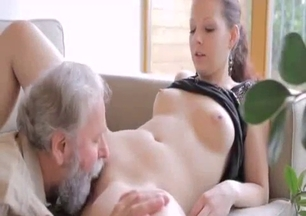 Sexy lusty granddaughter and perverted old man